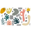 hand drawn organic shapestextures and graphic vector image