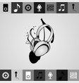 headphone silhouettes set in vector image vector image