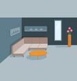 interior of the living room banner design vector image