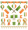irish flags and ribbons vector image vector image