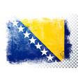 isolated flag bosnia herzegovina grunge style vector image vector image