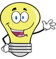 Light bulb waving vector image vector image