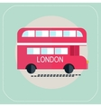 london bus icon flat vector image vector image