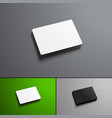 mock-ups pile of bank or gift cards isolated on vector image