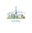 most beautiful city in europe paris most visited vector image vector image
