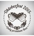 Oktoberfest Emblem vector image vector image
