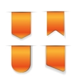 Orange Ribbon set vector image vector image