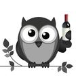 OWL DRUNK vector image vector image