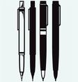 Pencil pen and fountain pen icons vector image vector image