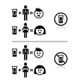 People drinking alcohol - sad and happy face icons vector image