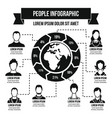 people infographic concept simple style vector image vector image
