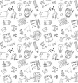 Physics and sciense seamless pattern with sketch vector image vector image