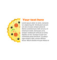 Pizza With Space For Your Text vector image
