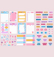planner and stickers organized daily notebooks vector image vector image