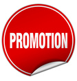 promotion round red sticker isolated on white vector image vector image