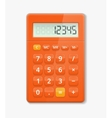 realistic calculator vector image