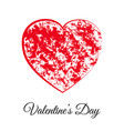 red heart happy valentines day gift card vector image vector image