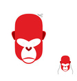 Red monkey mask for new year Carnival mask to vector image