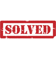 Red stamp solved vector image vector image