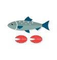 Salmon fish flat vector image