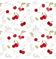 seamless berry pattern vector image vector image