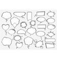 set comic speech bubbles vector image