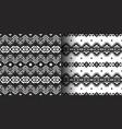 set ethnic prints tribal geometric design vector image vector image