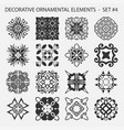 set of abstract ornamental elements vector image