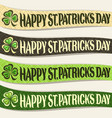 set of ribbons for saint patricks day vector image