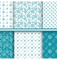 set of seamless sea patterns vector image