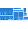 set of web banners template panorama city vector image