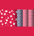 simple classic xmas pattern set vector image vector image