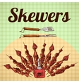 Skewers sketch poster vector image vector image