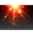 Star explosion on transparent background vector image vector image