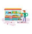 supermarket design flat vector image vector image