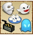 Symbolic set of different ghosts five items vector image vector image