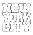 T shirt typography graphics New York black grunge vector image vector image