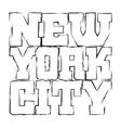 t shirt typography graphics new york black grunge vector image vector image