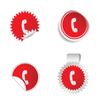 telephone sticker vector image vector image
