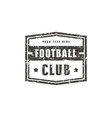 template emblem for football club vector image vector image