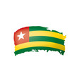 togo flag on a white vector image