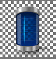 transparent glass battery vector image vector image