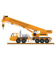 truck with many tools of construction vector image vector image