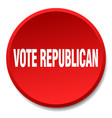 vote republican red round flat isolated push vector image vector image