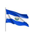 waving flag of el salvador vector image