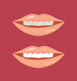 whitening teeth isolated on vector image vector image