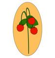 wild fresh strawberry on white background vector image