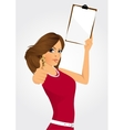 woman with clipboard vector image vector image