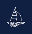 yachting logo vector image vector image