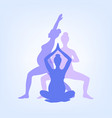 yoga for pregnant women set of yoga poses for vector image vector image
